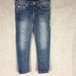 True religion girls pink stitch jeans Size 6X